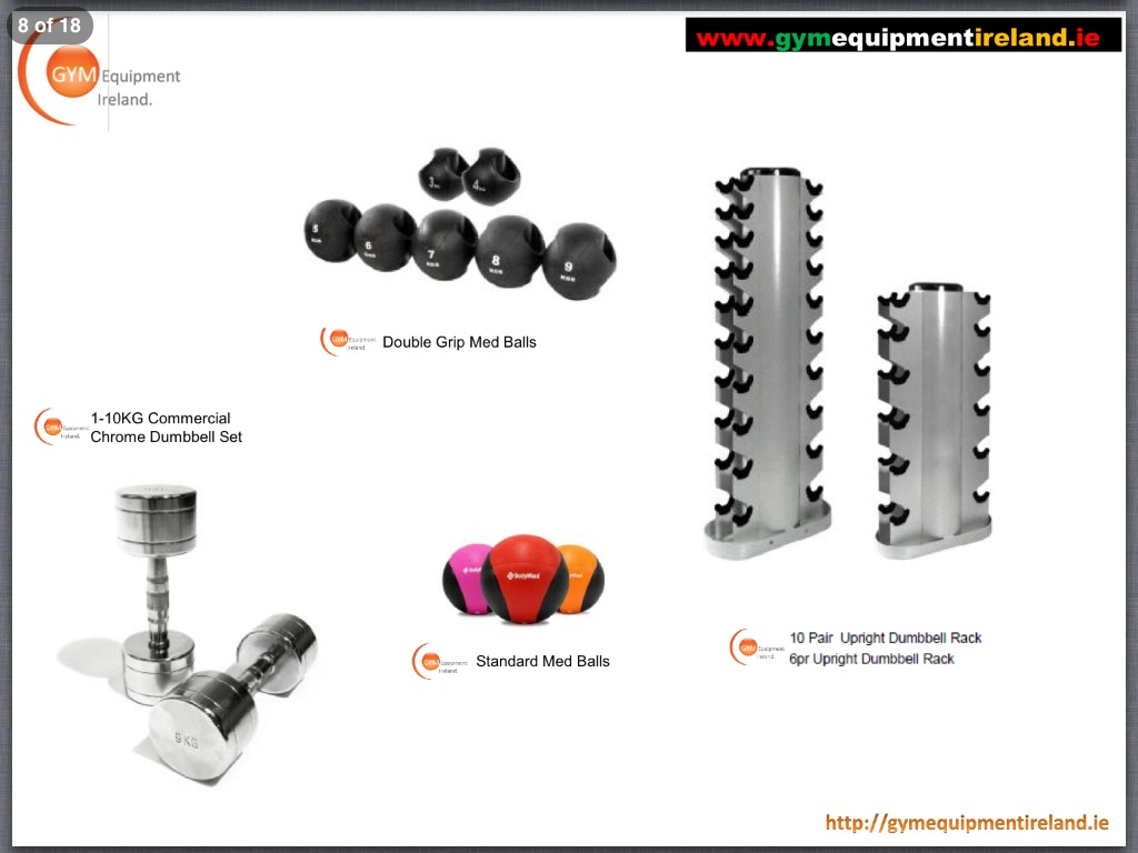 Gei 1 10kg Chrome Dumbbells Sets And Racks Gym Medicine Ball Grip Med Balls